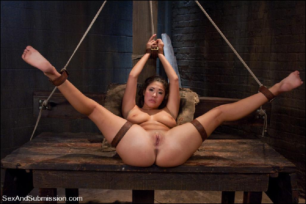 London Keyes, Pornstar London Keyes SexAndSubmission.com by TheWanderer, Asian, busty, bondage, domination, BDSM, rough sex, submissive, submissive female